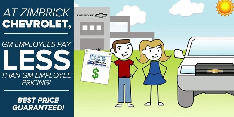 Zimbrick Chevrolet Gm Employee Pricing Incentive